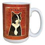 Tree-Free Greetings sg44000 Tuxedo Cat by John W. Golden Ceramic Mug with Full-Sized Handle, 15-Ounce