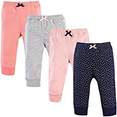 Luvable Friends Unisex Baby Cotton Pants, Gold Dot, 9-12 Months