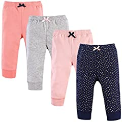 Set include four pants Made with 100% cotton Soft, gentle and comfortable on baby's skin Optimal for everyday use Affordable, high quality value pack