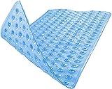 BAMONDO Badewannenmatte Derma Sensitive - 100x40cm - Antirutschmatte Badewanne - Duschmatte rutschfest - Badematte rutschfest für Kinder und Baby (blau)