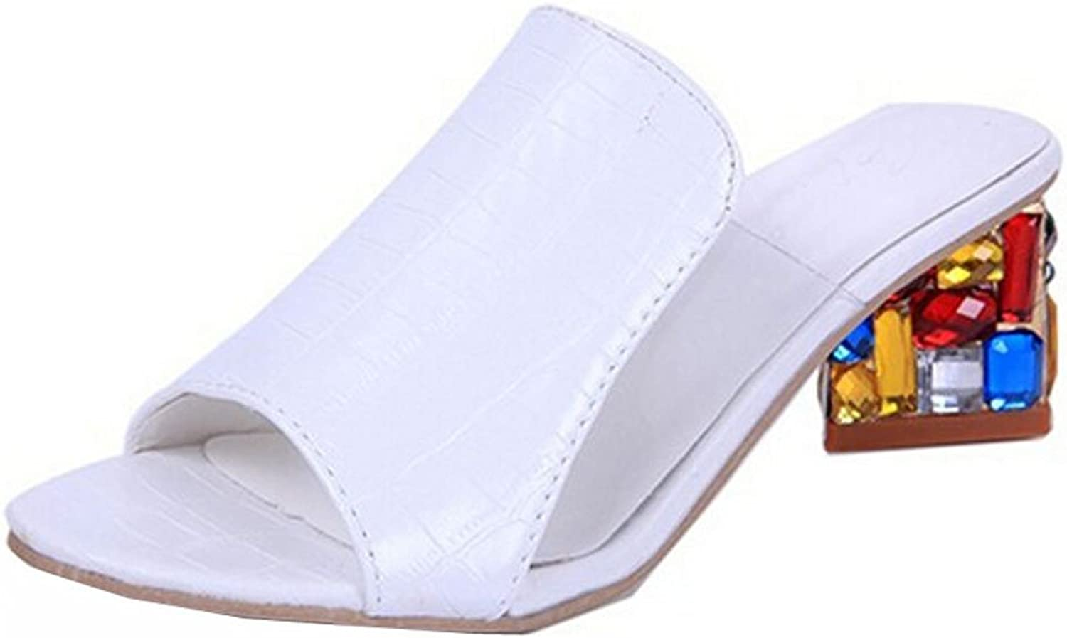 Women sandals for Lady shoes Slipper Rhinestone high wedge open toe shoes sandals