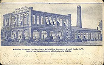 Printing House of the Mayflower Publishing Company Floral Park, New York Original Vintage Postcard
