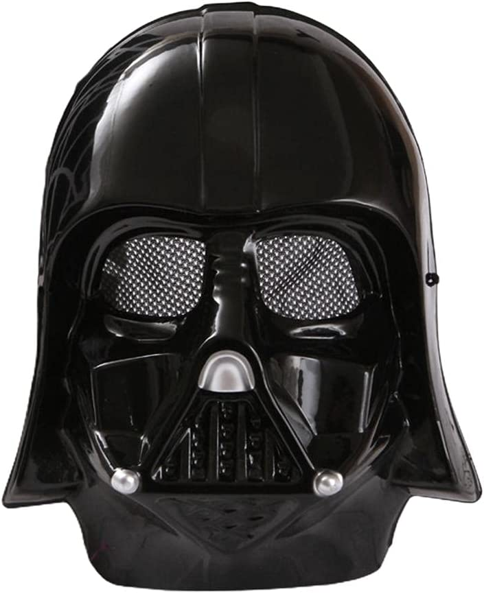 Ghzste Máscara de cara completa para Halloween, máscara de protección táctica de cara completa para paintball, soldados blancos, clonados, soldados negros, juego de fiesta con rejilla de metal