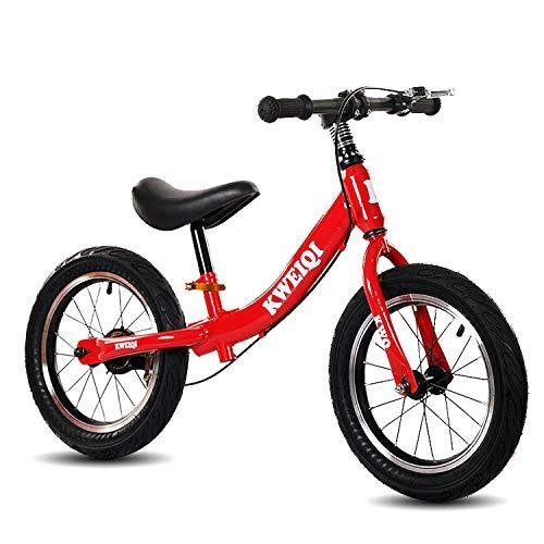 Bicicletta Senza Pedali Bici Da 14 Pollici Con Freno Per Bambine E Bambini Dai 3 Ai 7 Anni, Telaio...