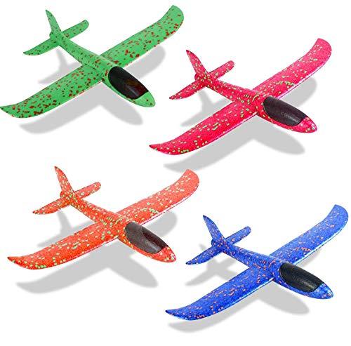 Wurfgleiter Styroporflieger Groß Segelflieger Styropor Flugzeug Styropor Spielzeug Outdoor Kinder (4 Pack)