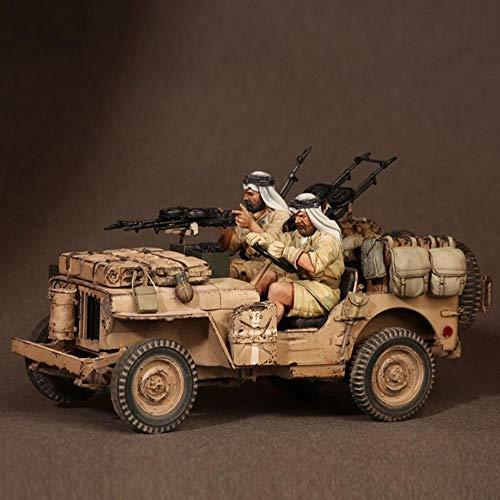 CHOUDOUFU Estatua Escultura Adorno 1/35 SAS Jeep Crew Set 3 - Norte De África 1941-42, Segunda Guerra Mundial, Sin Coche, Modelo De Resina Soldier Gk, Kit Sin Montar Y Sin Pintar