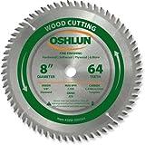 Oshlun SBW-080064 8-Inch 64 Tooth ATB Fine Finishing Saw Blade