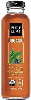 Pure Leaf Tea House Collection, Organic Iced Tea, Wild Blackberry & Sage, 14 Ounce, 8 Bottles