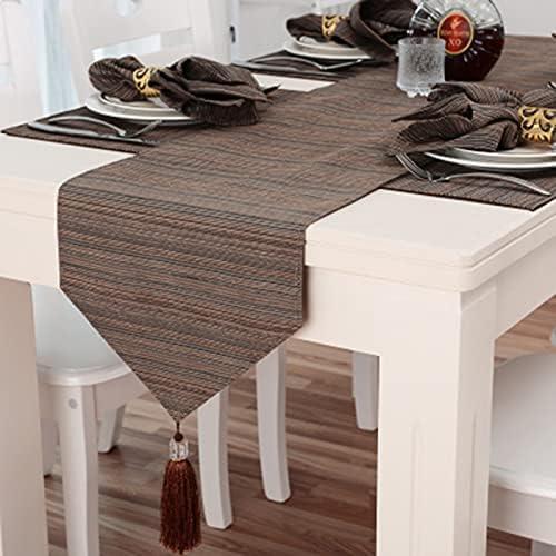 Max 70% OFF XLSQW Stripe Table Runners Long Decorati Popular overseas Tassel Exquisite