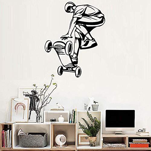 jiushivr Kunst Skateboard fahrt Junge wandaufkleber wandbild große Halle tapete teenagerraum wandaufkleber Dekoration entfernbares Poster 54x68cm