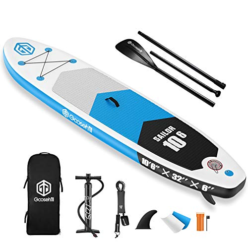 Goosehill Inflatable Stand Up Paddle Board, Premium SUP Package, 10' Long 32' Wide 6' Thick, Patterns Open for Customization