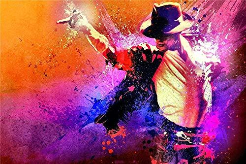 FAWFAW Puzzles Classiques 300 Pièces, Puzzle 3D, Affiche De Michael Jackson