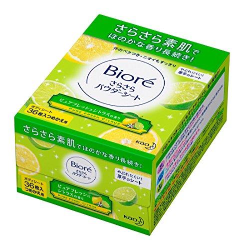 Kao Biore murmuring [refill] Powder sheet Pure fresh citrus scent (36 pieces)