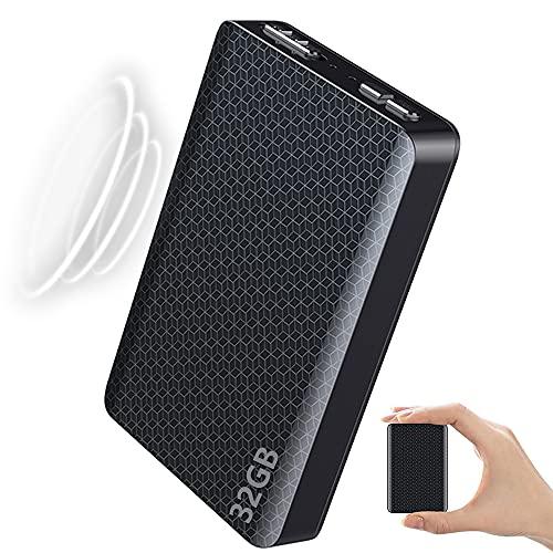 32GB Grabadora de Voz, Mini Grabador Magnética Espia con Activación por Voz y Reducción de Ruido y Baterías Recargables 300 Horas de Tiempo de Grabación Continua Portátil Digital Grabador,32gb