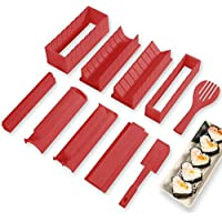 Sushi Tool 10-Pieces Plastic Sushi Maker Tool Complete