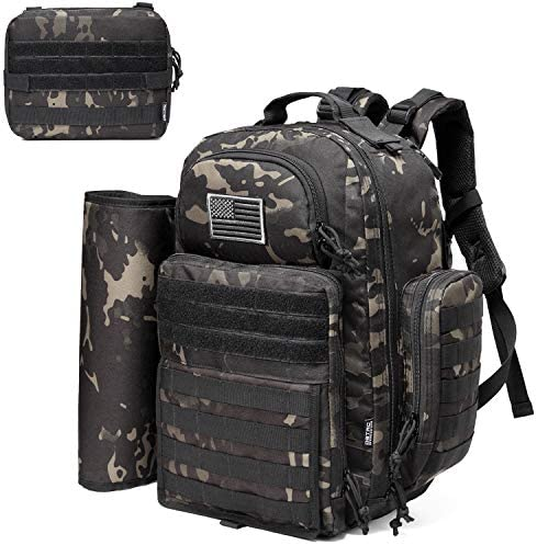 Diaper Bag Backpack for Dad DBTAC Large Baby Nappy Bag for Men w Changing Mat Insulated Wipe product image