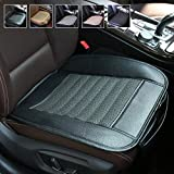 Suninbox Black Car Seat Covers,Car Seat Cushion [Bamboo Charcoal] Bottom Seat Covers for Trucks,Leather Car Seat Covers,Car Seat Pad[Black Front Seats Only]