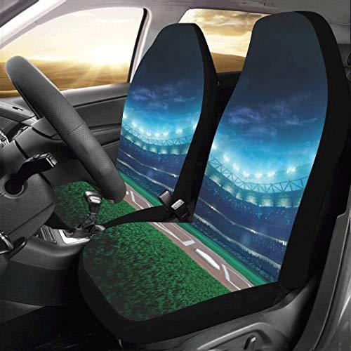 Artsadd Baseball Stadium Fabric Car Seat Covers (Set of 2) Best Automobile Seats Protector