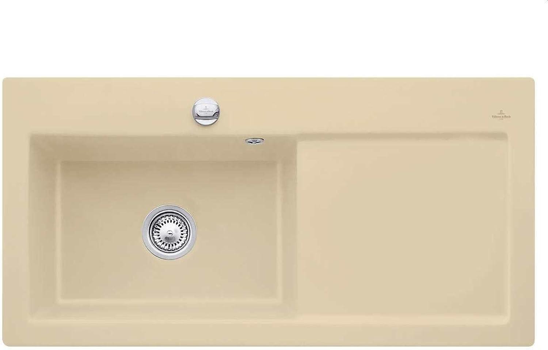 Villeroy & Boch Subway 60 XL Sand Keramik-Spüle Beige Auflagespüle Einbau Spüle