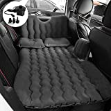 Premium Quality Car Travel Back Seat Inflatable Air Mattress 2 Air Pillows,2 Air Piers,1 Travel Neck Pillow,Mattress and Piers can be Separated so Mattress can be Used Like Normal Camping Mattress