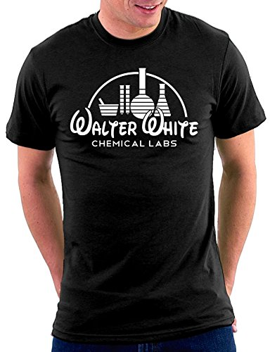 Million Nation, t-shirt Breaking Bad, laboratori di Walter White nero 50