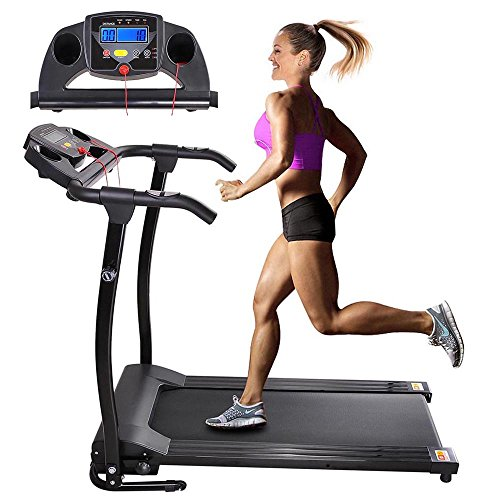AW 1100W Folding Electric Treadmill Portable Power Motorized Machine Running Jogging Gym Exercise...