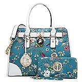 Women Designer Handbags and Purses Ladies Satchel Bags Shoulder Bags Top Handle Bags w/ Matching Wallet