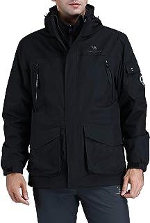 Chaquetas Cortavientos Hombre Invierno, 3 en 1 Impermeable Chaqueta de Esquí de Lana Abrigo Deportivo para Senderismo Esquiar