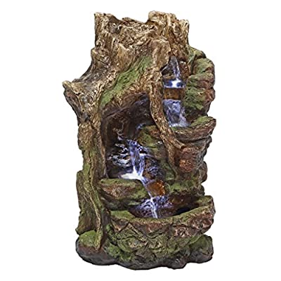 Design Toscano QN164017 Water Fountain with LED Light - Willow Bend Garden Decor Fountain - Outdoor Water Feature,