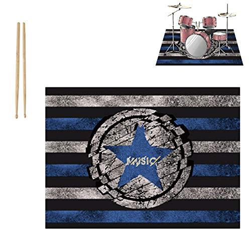 PPGE Home Schlagzeugteppich, Drum Teppich, Schlagzeug Teppich, Schallschutzmatte Trommel, Bass Drum Snare Rug Matte, Klavier Schallschutz Teppich, Hergeben Schlagzeug Sticks 180x140 CMC