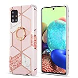 DEFBSC for Samsung Galaxy A71 Marble Case, Marble Phone