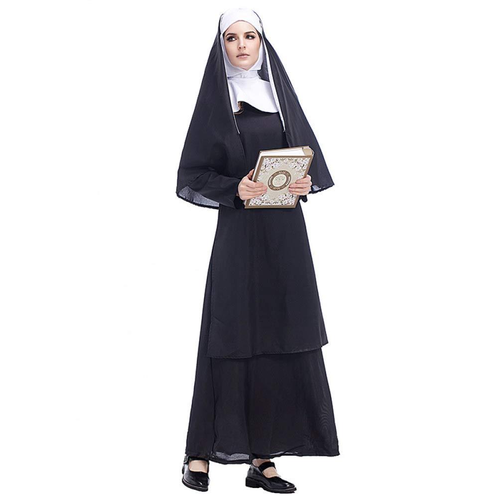 COSOER Traje De Cosplay del Padre Nun Maria Ropa del Sacerdote ...