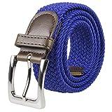 Lienzo elástico Cinturones de tela tejida a mano elástica trenzado Multicolor - Multi -