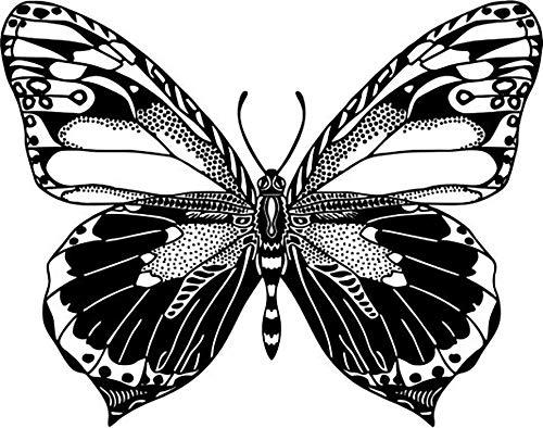 NEWSTAMPS DIE STEMPELMACHER Schmetterling 05 Motivstempel aus Holz - 50 x 45 mm - Scrapbook Stempel zum basteln von Karten