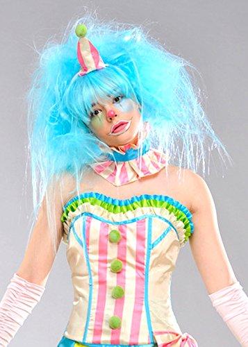 Magic Box Perruque de Clown Bleu Aqua Luxe Womens