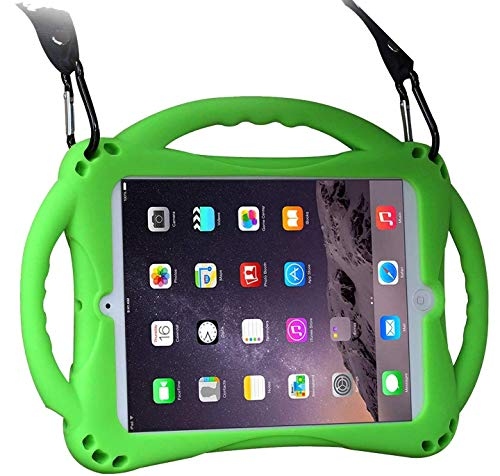 Kids Case for iPad Mini, TopEsct Shockproof Handle Stand Case Cover Compatible with iPad Mini, Mini 2, Mini 3, Mini 4 and Mini 5(2019 Model)(7.9' Mini, Green)