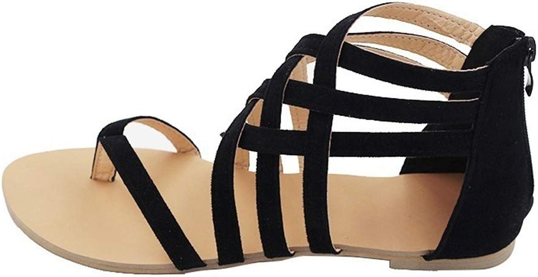 Duduxiaomaibu Women's shoes Gladiator Strap Flat Sandal