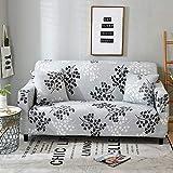 Funda de sofá elástica elástica, Toalla de sofá de algodón Puro, Funda de sofá Antideslizante y a Prueba de Polvo para Sala de Estar A18 de 2 plazas