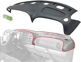 Grey Molded Plastic Dash Pad Cover Overlay Fits 98-02 Dodge Ram Trucks