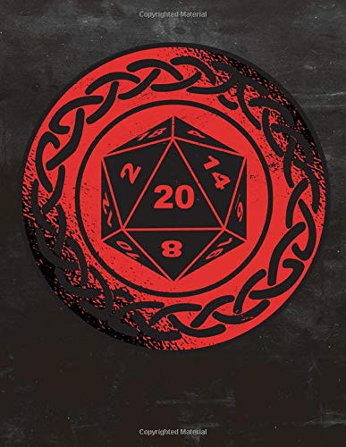 RPG D20 RED Dice GAME Bordgame A4 Ruled Line Paper: Notebook with 120 Pages ca. A4 (8,5x11 in) RPG Dice Roleplaying game Dragon Pen and Paper Accessories Role Playing Games Tabletop play gifts