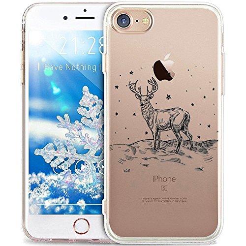 "SevenPanda für iPhone XS Max 6.5"" Handyhülle Weihnachtsserie Winter Schutzhülle Hülle Silikon Cover Case Ultra Slim Ultradünn Etui aus TPU transparent - Hirsch/Star"