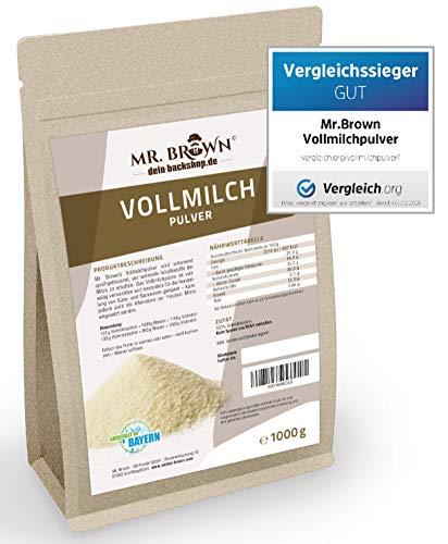 1kg Vollmilchpulver, zum Backen, sprühgetrocknet, Milchpulver als Alternative zur frischen Milch - Vergleichssieger...