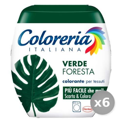 Coloreria Italiana Set 6 1 Pronto all'Uso Verde Foresta per Lavatrice