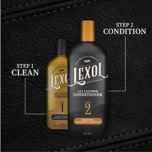 Lexol Leather Conditioner, 16.9 oz Best Cleaner and Conditioning Since 1933-For Use on Apparel, Furniture, Auto Interiors, Shoes, Bags and More, Model:Leather Conditioner, 16.9 oz,