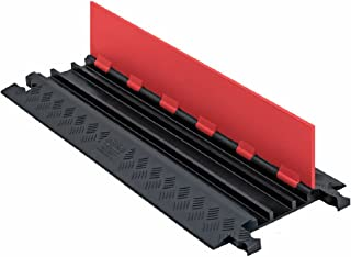 Guard Dog GD3X75-ST-O/B Polyurethane Heavy Duty 3 Channel Low Profile Cable Protector with Standard Ramp, Orange Lid with Black Ramp, 36