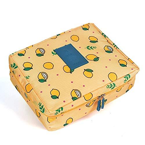 PoplarSun Femmes Maquillage Sac cosmétique Make Portable étanche Trousse Multifonction Sac Voyage Wash (Color : Yellow)