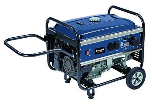 Einhell Benzin Stromerzeuger BT-PG 5500/2 D (3600 W Dauerleistung, max. Leistung 7 kW, 389 cm³ Hubraum, 25 l Tank, 2 x 230 V/1 x 400 V Steckdosen)