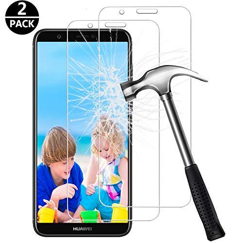 FUMUM pantserfolie voor Huawei P smart folie, 5 keer versterking anti-kras [2 verpakking] gehard glas 9H HD beschermfolie voor Huawei P Smart [geen luchtbellen]