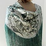 Mantoncillo de seda pintada a mano, mantón de seda, manton de sra, mantoncillo de flamenca,