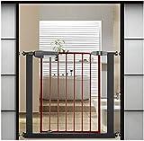 Barrera de Seguridad de Niños para Puertas y Escal Barandilla Puerta del jardín Escaleras Cerca de presión Fit Seguridad Puerta de metal Soportes de 76cm de altura El ancho se puede seleccionar de 75
